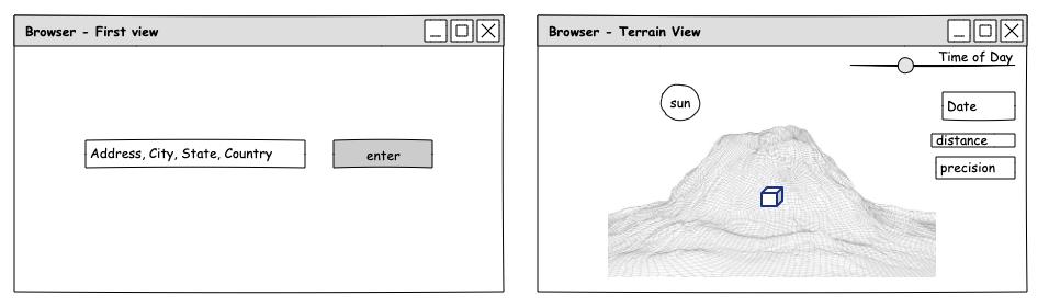 UI browser sketch of target prototype